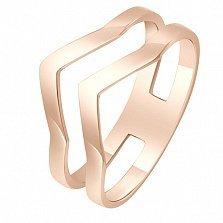 Золотое кольцо из красного золота Вектор