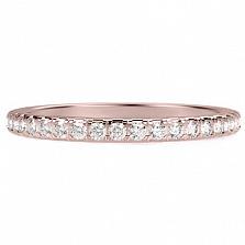 Обручальное кольцо из розового золота с бриллиантами Вечное сияние
