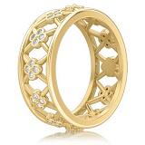 Кольцо из желтого золота с бриллиантами Восторг: Нектар Жизни