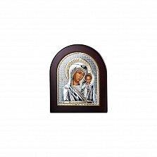 Икона серебряная в позолоте Казанская Божья Матерь