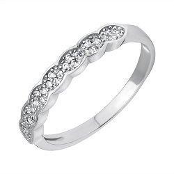 Серебряное кольцо с фианитами 000118383