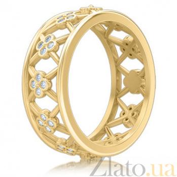 Кольцо из желтого золота с бриллиантами Восторг: Нектар Жизни  5234