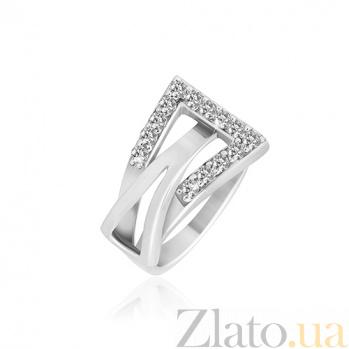 Серебрянное кольцо с цирконием Токио 000025758