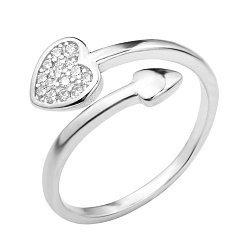 Серебряное кольцо с фианитами 000124949