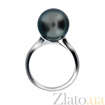 Золотое кольцо с жемчугом Морской бриз 000029548