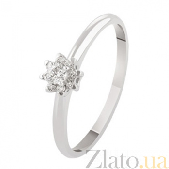 Кольцо для помолвки с бриллиантами Fiona KBL--К1957/бел/брил