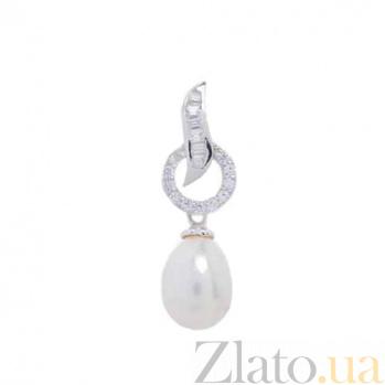 Серебряный кулон с жемчугом Жемчужная царица AQA-P00720PW