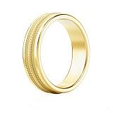 Мужское обручальное кольцо из желтого золота Я тебя никому не отдам