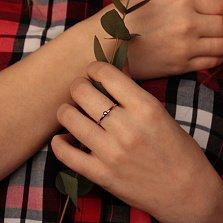 Кольцо в красном и белом золоте Лаконичность