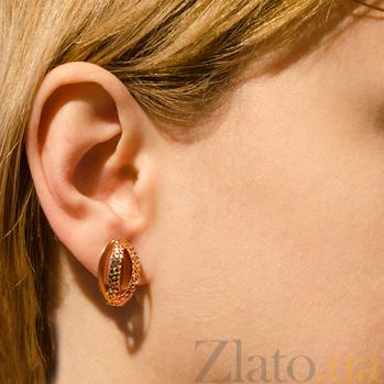 Сережки из красного золота Алексис TNG--470336