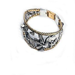 Серебряный браслет Пектораль с позолотой