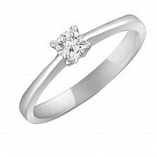 Кольцо из белого золота Милая с бриллиантом 0,25ct