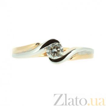 Золотое кольцо в красном цвете с бриллиантом Голди 000021489