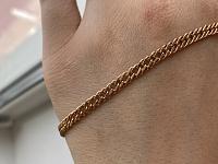 Золотая цепь плетения двойной ромб с алмазной гранью, 4мм 000115631