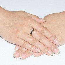 Обручальное кольцо из красного золота с фианитами Яркая классика