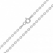 Серебряная цепь Эксетер с родием, 2,5 мм