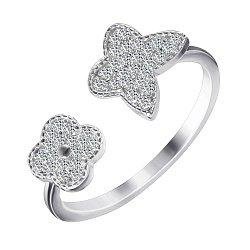 Серебряное кольцо с фианитами 000070070