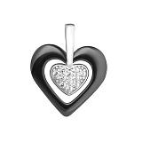Серебряный подвес с керамикой и фианитами Romantic Date