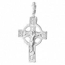 Серебряный крестик Небесный Царь
