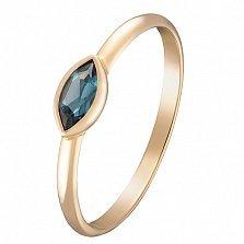 Кольцо в желтом золоте Николетта с лондон топазом