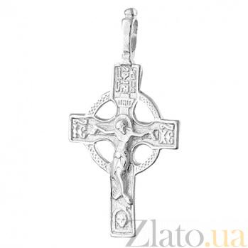 Серебряный крестик Небесный Царь 000025368