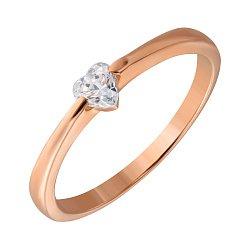 Золотое кольцо Поэзия с камнем Swarovski