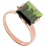 Золотое кольцо Ирма с зеленым аметистом