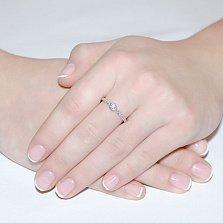 Кольцо Леона из белого золота с бриллиантами