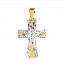 Золотой крестик Путеводные нити с бриллиантами