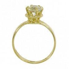 Кольцо из желтого золота Мелани с бериллом цвета шампань
