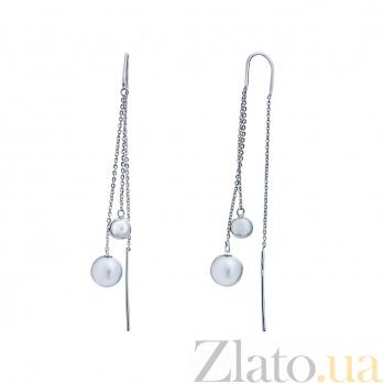 Серебряные серьги Милана AQA--Тс-580058