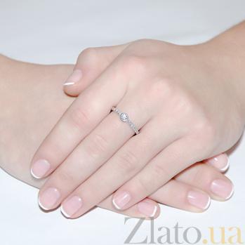 Кольцо Леона из белого золота с бриллиантами R0118