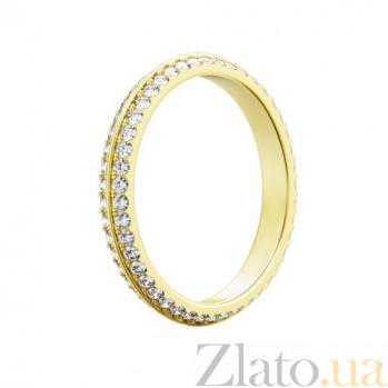 Обручальное кольцо из желтого золота с бриллиантами Вершина моей мечты 94