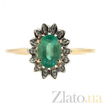 Золотое кольцо с изумрудом Симона ZMX--RE-6702_K