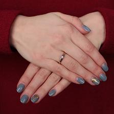 Золотое кольцо Миледи Удача в комбинированном цвете с бриллиантом