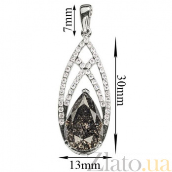 Подвеска из белого золота Аполлинария с бриллиантами P 0524