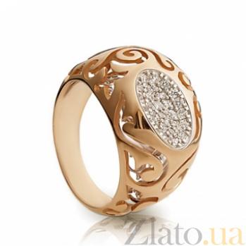 Золотое кольцо с фианитами София 000030595
