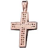 Золотой крест Аделлина с фианитами