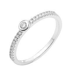 Серебряное кольцо с фианитами 000130692