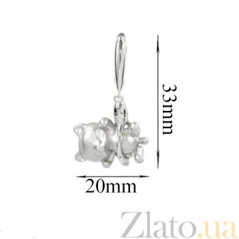 Серебряные серьги Кис кис 3С928-0005