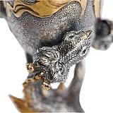 Серебряная рюмка Двуглавый дракон