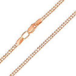 Цепочка в комбинированном цвете золота в плетении ромб с алмазной гранью 2 мм 000003457