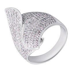 Золотое кольцо Королева бала в белом цвете с бриллиантами
