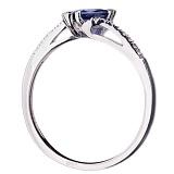 Золотое кольцо с сапфиром и бриллиантами Изабель