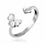 Серебряное кольцо Цветение любви