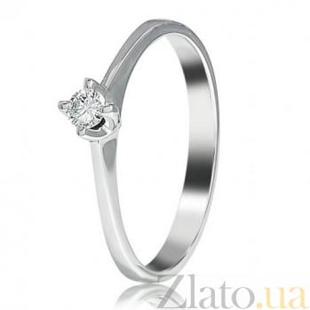 Кольцо из белого золота с бриллиантом Нимфа EDM--КД7527/1