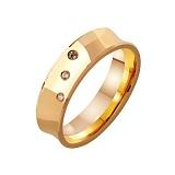 Золотое обручальное кольцо Классическая Империя с фианитами