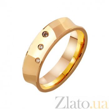 Золотое обручальное кольцо Классическая Империя с фианитами TRF--4121130