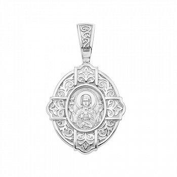 Серебряная ладанка Божия Матерь Знамение 000147489