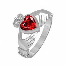 Золотое кольцо с рубином Сердце принцессы